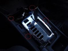 Замена лампочки в подсветке АКПП Toyota Corolla 120