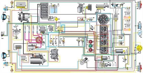 Схемы электрооборудования УАЗ-469, 31512, 31514, 31519
