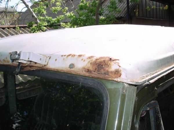 Ремонт крыши и врезка люка в УАЗ 469