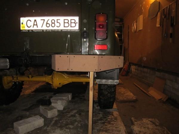 Изготовление заднего силового бампера УАЗ 31512