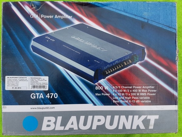Пошаговая инструкция подключения усилителя сабвуфера блаупункт gta470