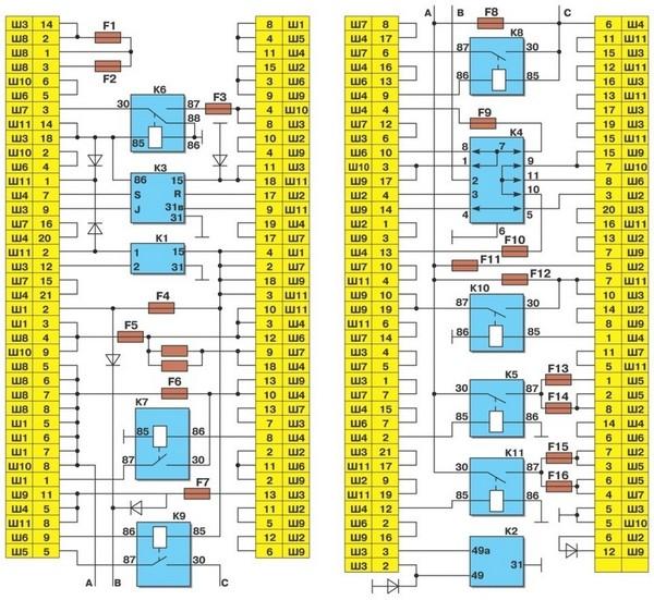 схема плафон освещения салона ленд крузер 105