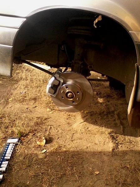 Установка задних дисковых тормозов на ваз 2114