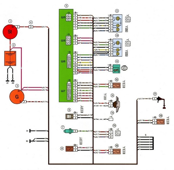 схема электрооборудования toyota corolla