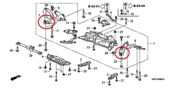 Замена сайлентблоков хонда цивик 4д