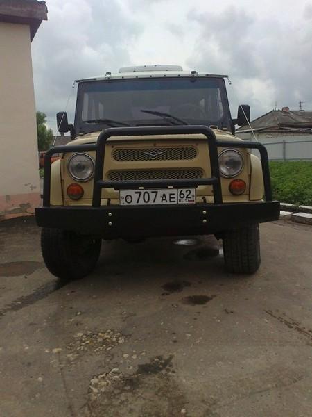 Чертеж переднего силового бампера УАЗ 469