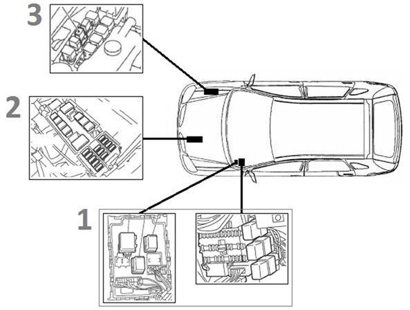 Предохранители и реле в Nissan Almera N16