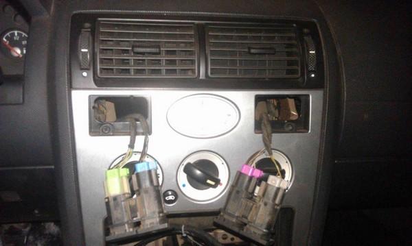 Восстановление светофильтров ручек переключения печки в Ford Mondeo