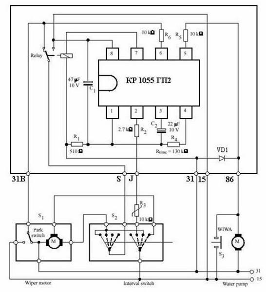 Установка регулятора паузы стеклоочистителя ВАЗ 2110, 2111, 2112