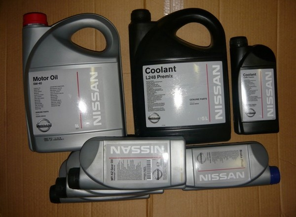 Объемы масел и жидкостей Nissan Almera N16