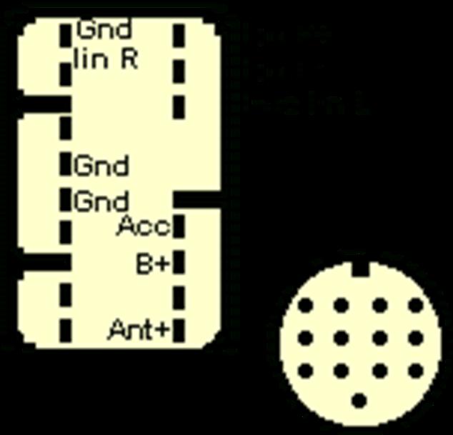 схема подключения усилителя к магнетоле 56026 86120-44030 участок