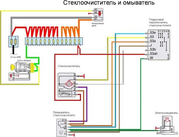 схема стеклоочистителя на москвич 412