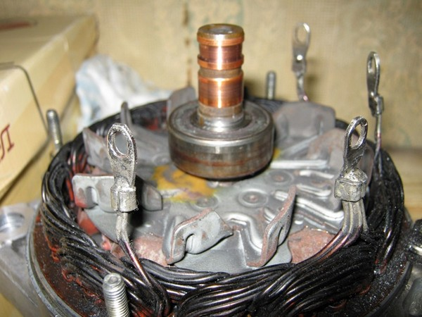 замена контактных колец на генераторе honda cjv26