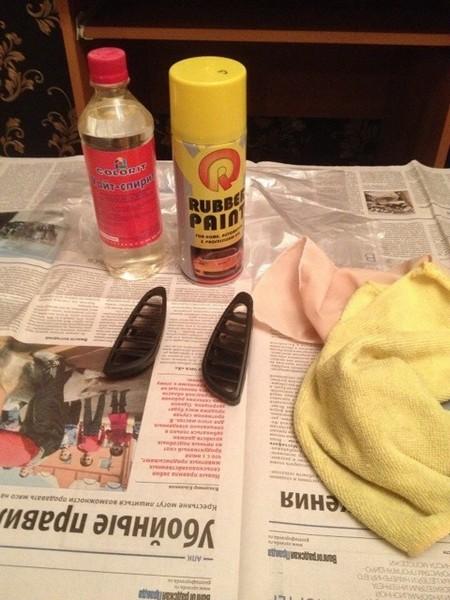 Подробнее: Покраска приборной панели жидкой резиной в Шевроле Ниве (ВАЗ 2123)