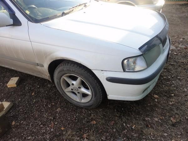 Замена переднего сальника коленвала двигателя, снятие шкива Nissan Sunny B15