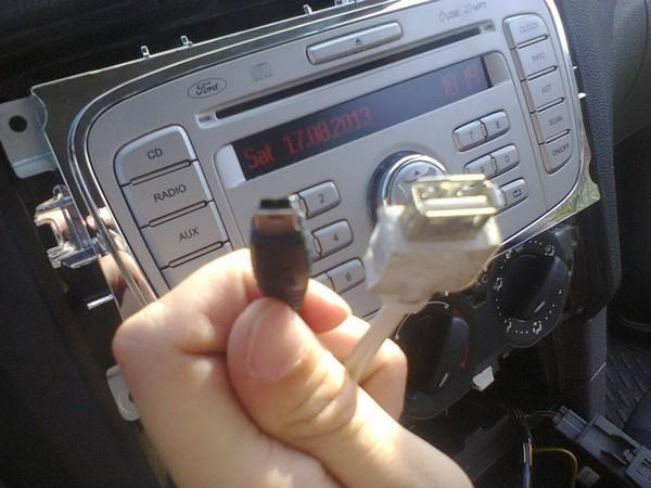 магнитола форд фокус 2 6000cd как подключить флешку